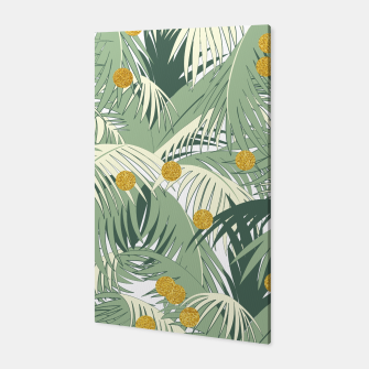 Palm and gold Canvas thumbnail image