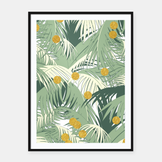 Palm and gold Framed poster thumbnail image