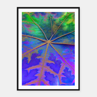 Thumbnail image of Leaf Incredible, Turquoise Framed poster, Live Heroes
