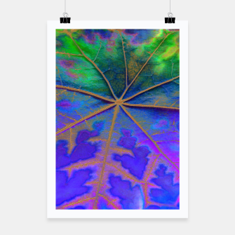 Thumbnail image of Leaf Incredible, Turquoise Poster, Live Heroes