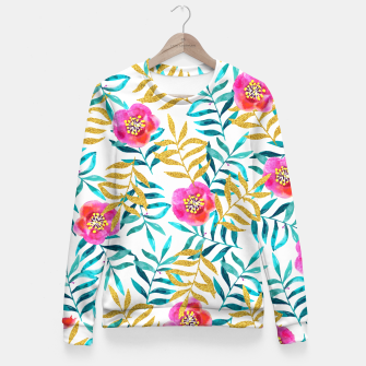 Thumbnail image of Floral Sweetness Fitted Waist Sweater, Live Heroes