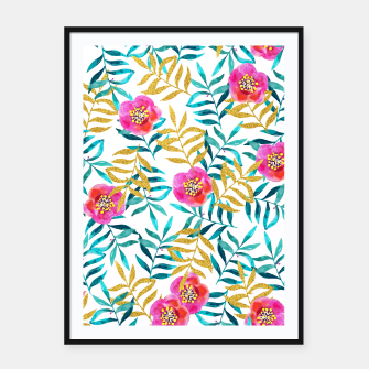 Thumbnail image of Floral Sweetness Framed poster, Live Heroes