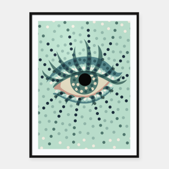 Thumbnail image of Dotted Blue Eye Framed poster, Live Heroes