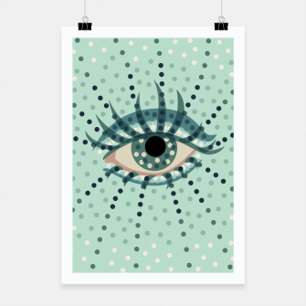 Thumbnail image of Dotted Blue Eye Poster, Live Heroes