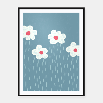 Thumbnail image of Flowery Rain Clouds Framed poster, Live Heroes