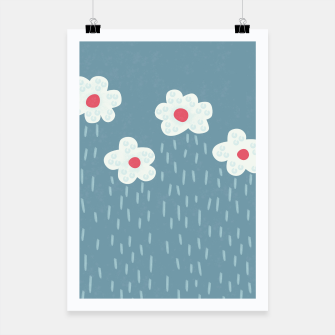 Thumbnail image of Flowery Rain Clouds Poster, Live Heroes