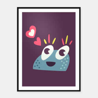 Thumbnail image of Cute Kawaii Candy Framed poster, Live Heroes