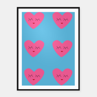 Thumbnail image of Valentines Heart Blue Framed poster, Live Heroes