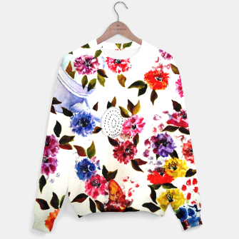 Thumbnail image of WATER CAN SPILLING COLORFUL FLOWERS Sweater, Live Heroes