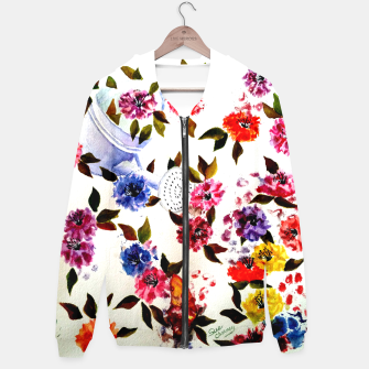 Thumbnail image of WATER CAN SPILLING COLORFUL FLOWERS Hoodie, Live Heroes