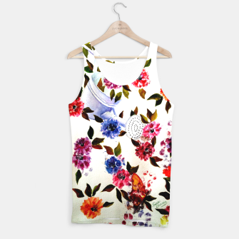 Thumbnail image of WATER CAN SPILLING COLORFUL FLOWERS Tank Top, Live Heroes