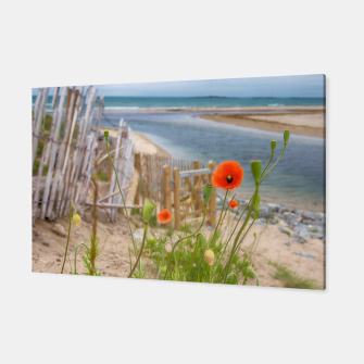 Thumbnail image of Scenic Sea View Wild Flowers Nature Scene Canvas, Live Heroes