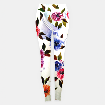 Thumbnail image of WATER CAN SPILLING COLORFUL FLOWERS Leggings, Live Heroes