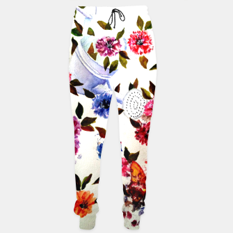 Thumbnail image of WATER CAN SPILLING COLORFUL FLOWERS Sweatpants, Live Heroes