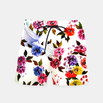 Thumbnail image of WATER CAN SPILLING COLORFUL FLOWERS Swim Shorts, Live Heroes