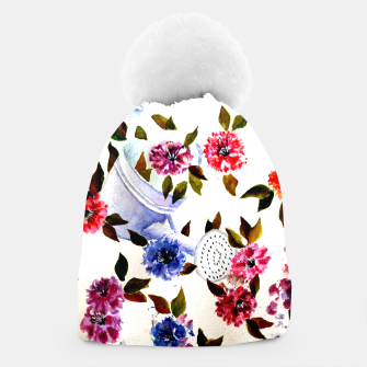 Thumbnail image of WATER CAN SPILLING COLORFUL FLOWERS Beanie, Live Heroes
