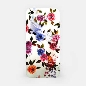 Thumbnail image of WATER CAN SPILLING COLORFUL FLOWERS iPhone Case, Live Heroes
