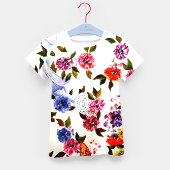 Thumbnail image of WATER CAN SPILLING COLORFUL FLOWERS Kid's T-shirt, Live Heroes