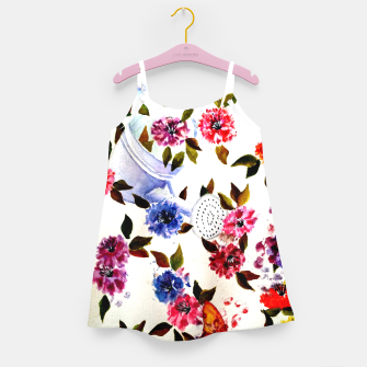 Thumbnail image of WATER CAN SPILLING COLORFUL FLOWERS Girl's Dress, Live Heroes