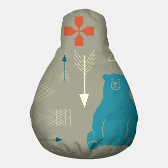 Thumbnail image of Tribal Bear gray Pouf, Live Heroes