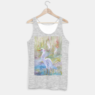 Thumbnail image of WHITE EGRET IN A COLORFUL POND Tank Top regular, Live Heroes