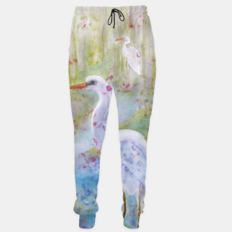 Thumbnail image of WHITE EGRET IN A COLORFUL POND Sweatpants, Live Heroes