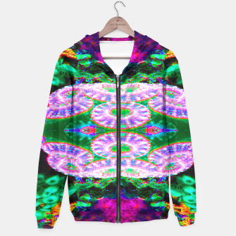 Thumbnail image of Acan Saucer Cotton zip up hoodie, Live Heroes