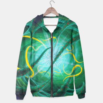 Thumbnail image of Ethereal Urchin Cotton zip up hoodie, Live Heroes