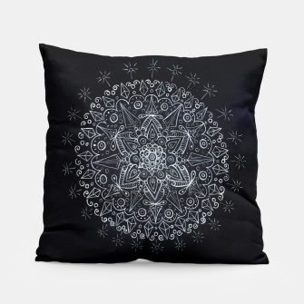 Thumbnail image of Black Mandala 1  Pillow, Live Heroes