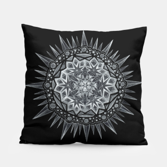 Thumbnail image of Black Mandala 2 Pillow, Live Heroes