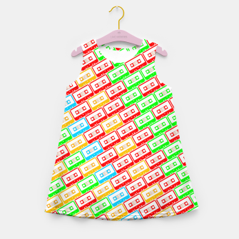 Thumbnail image of Mix-taped Girl's Summer Dress, Live Heroes