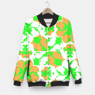 Thumbnail image of Graphic Floral Pattern Baseball Jacket, Live Heroes