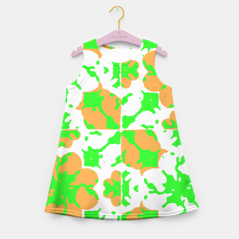 Thumbnail image of Graphic Floral Pattern Girl's Summer Dress, Live Heroes