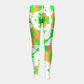 Thumbnail image of Graphic Floral Pattern Girl's Leggings, Live Heroes