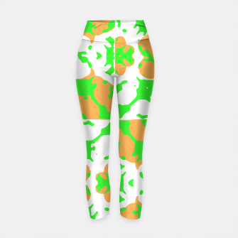 Thumbnail image of Graphic Floral Pattern Yoga Pants, Live Heroes