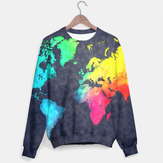 map of the world color Bluza obraz miniatury