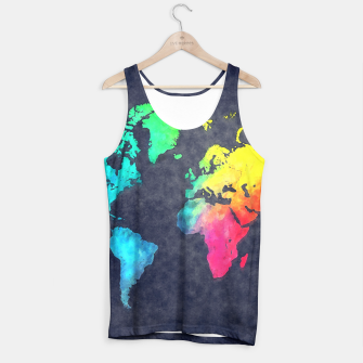 map of the world color Tank Top obraz miniatury