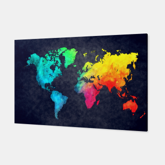 map of the world color Canvas obraz miniatury