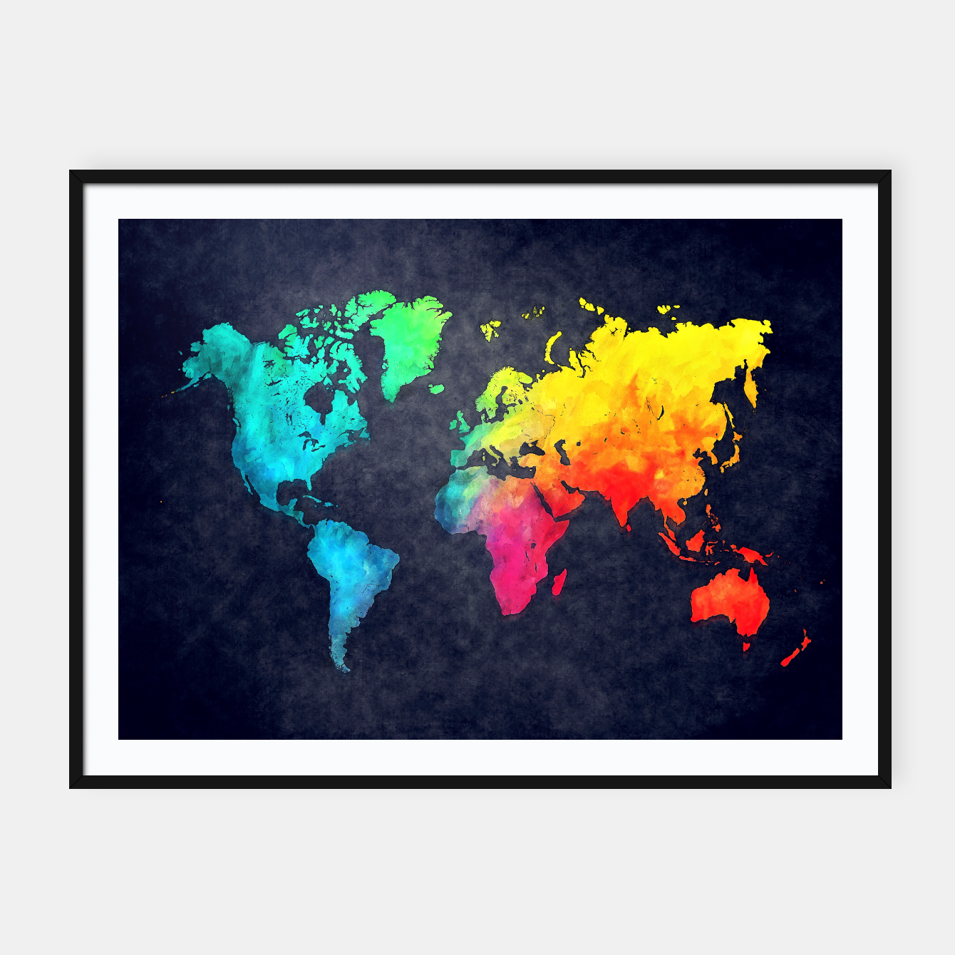 world map art