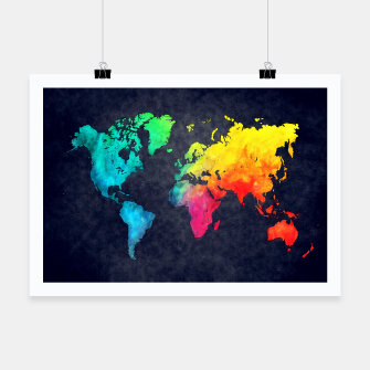map of the world color Plakat obraz miniatury