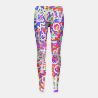 Thumbnail image of flow Girl's Leggings, Live Heroes