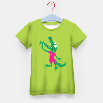 Thumbnail image of Crocodile in Pink T-Shirt für Kinder, Live Heroes