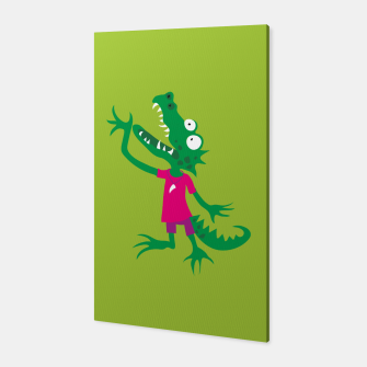 Thumbnail image of Crocodile in Pink Canvas, Live Heroes