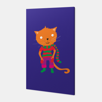 Thumbnail image of striped shawl Cat Canvas, Live Heroes