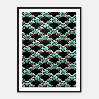 Thumbnail image of Turquoise Night Framed poster, Live Heroes