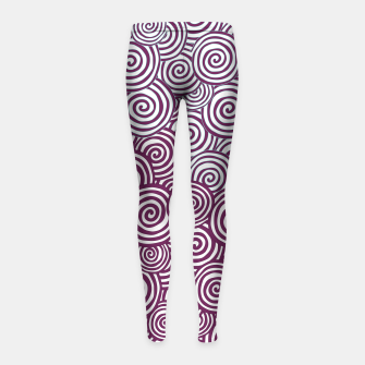 Thumbnail image of Waves of Life Girl's Leggings, Live Heroes