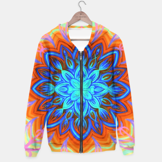 Thumbnail image of Brite Blue Blossom Hoodie, Live Heroes