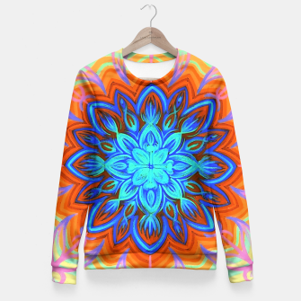 Thumbnail image of Brite Blue Blossom Fitted Waist Sweater, Live Heroes