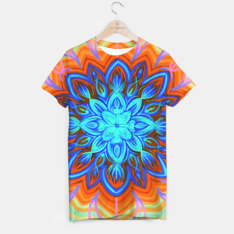 Thumbnail image of Brite Blue Blossom T-shirt, Live Heroes