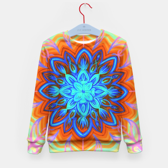 Thumbnail image of Brite Blue Blossom Kid's Sweater, Live Heroes